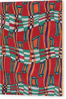 Indian Silk Wood Print