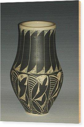 Indian Vase Wood Print by Ken McCollum