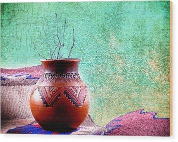 Indian Vessel Wood Print