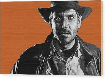 Indiana Jones Art Signed Prints Available At Laartwork.com Coupon Code Kodak Wood Print by Leon Jimenez