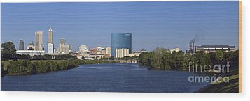 Indianapolis - D007990 Wood Print by Daniel Dempster