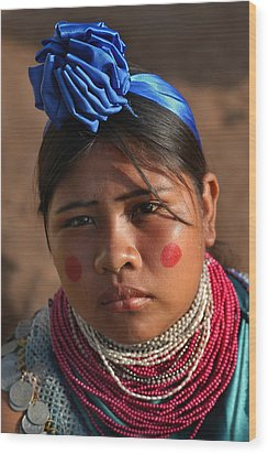 Indigenous Guarani Women. Department Of Santa Cruz. Republic Of Bolivia.    Wood Print by Eric Bauer