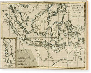 Indonesia And The Philippines Wood Print by Guillaume Raynal