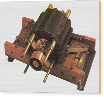 Induction Motor Wood Print by Photo Researchers
