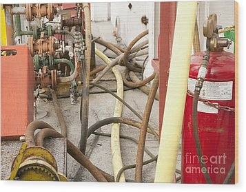 Industrial Interior Wood Print by Shannon Fagan