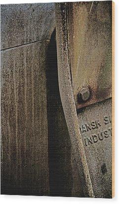 Industrial Light Wood Print by Odd Jeppesen