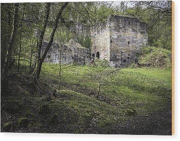 Industrial Ruin Wood Print by Amanda Elwell