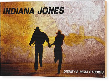 Indy And Marions Escape Wood Print by David Lee Thompson