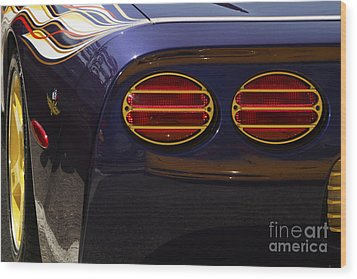 Indy Pace Car Wood Print by Dennis Hedberg