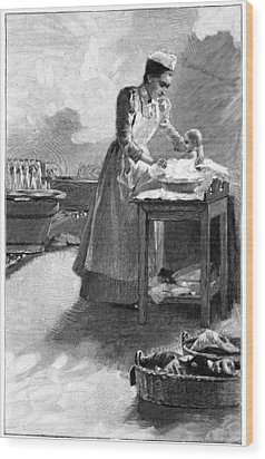 Infant Healthcare, Early 20th Century Wood Print by