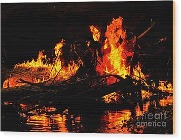 Infernal Lair Wood Print