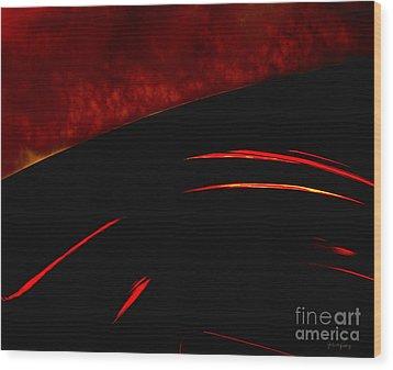 Inferno Wood Print by Gerlinde Keating - Galleria GK Keating Associates Inc