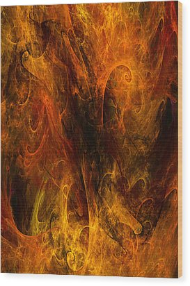 Inferno Wood Print by Niels Walther