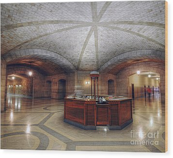 Wood Print featuring the photograph Info Desk by Art Whitton