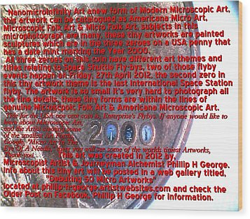 Information Microphotograph Number Two  Wood Print by Phillip H George
