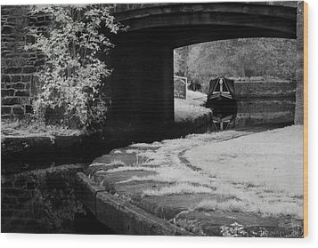 Wood Print featuring the photograph Infrared At Llangollen Canal by Beverly Cash