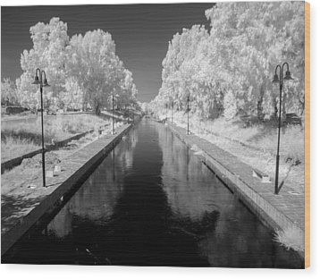 Infrared River Wood Print by Stavros Argyropoulos