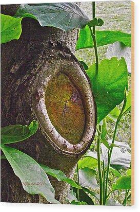 Ingrained Wisdom II Wood Print by Rotaunja