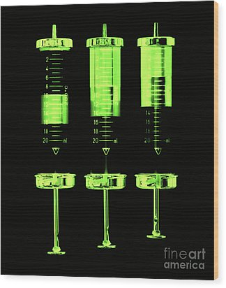 Injection Wood Print by Michal Boubin