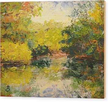 Wood Print featuring the painting Inlet by Joe Bergholm