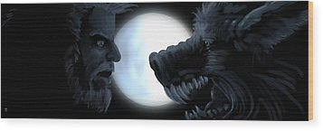 Inner Conflict Wood Print by William McDonald