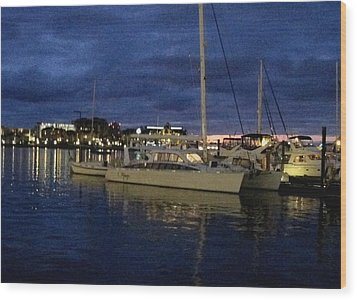 Inner Harbour At Night Wood Print