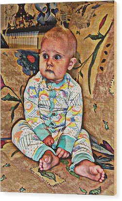 Innocence 1 Wood Print by Camille Reichardt