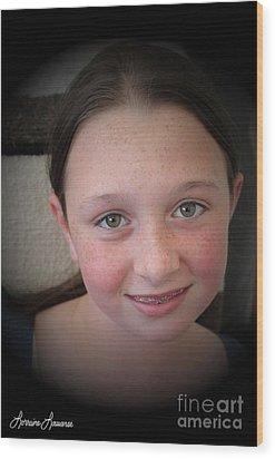 Innocents 5 Wood Print by Lorraine Louwerse