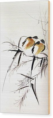Inseparable Couple Wood Print by Ming Yeung
