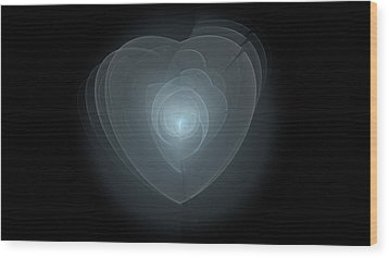 Inside A Scorned Heart Wood Print by Pennie Gibson