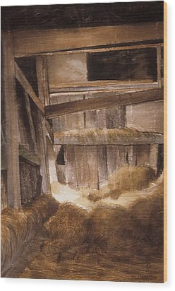 Inside Keeler's Barn Wood Print