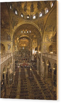 Inside San Marcos Basilica Wood Print by Jim Richardson