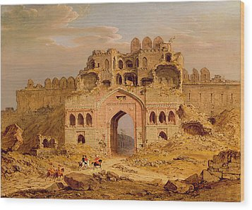 Inside The Main Entrance Of The Purana Qila - Delhi Wood Print by Robert Smith
