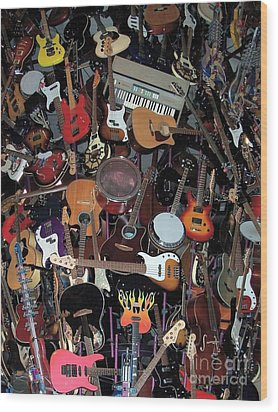 Instruments Wood Print by Chalet Roome-Rigdon