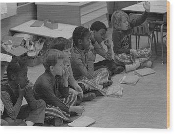 Integrated First Grade Class Of African Wood Print by Everett