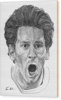 Intensity Lionel Messi Wood Print