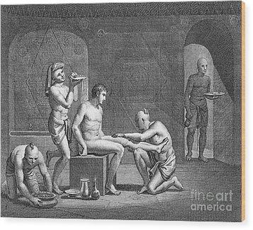 Interior Of Egyptian Bath Wood Print by Granger