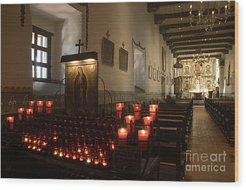 Interior Old Mission Wood Print by Bob Christopher