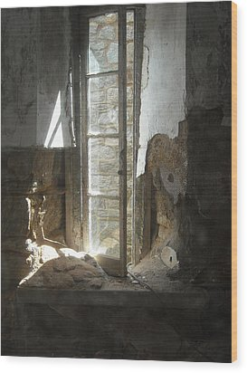 Wood Print featuring the photograph Interior Window by Christophe Ennis