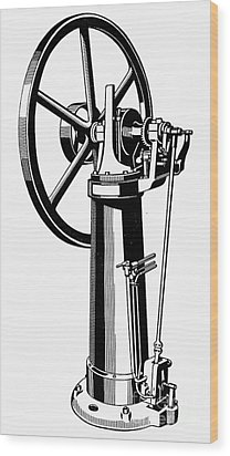 Internal Combustion Engine Wood Print by Granger