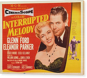 Interrupted Melody, Eleanor Parker Wood Print by Everett