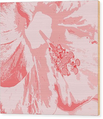 Intimate Pink  Wood Print by Keren Shiker