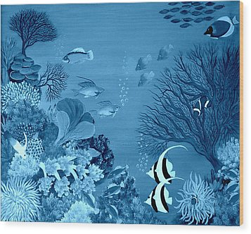 Into The Blue Yonder Wood Print