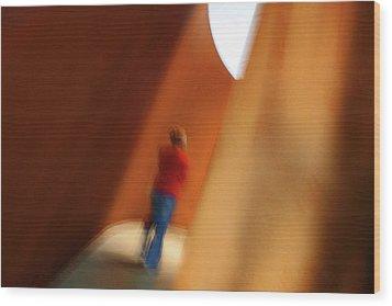 Into The Light Wood Print by James Mancini Heath