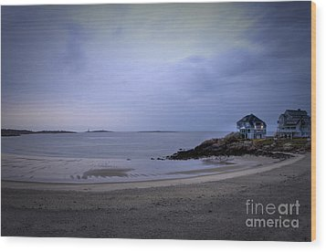 Into The Night In Cape Ann Wood Print by Brenda Giasson