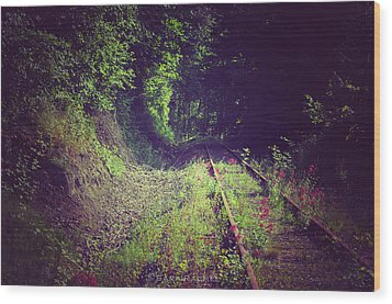 Into The Unknown Wood Print by Sarai Rachel