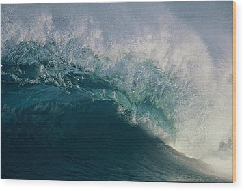 Intricacy In A Wave's Lip Wood Print
