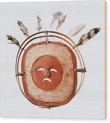 Inuit Moon Mask Wood Print by Photo Researchers