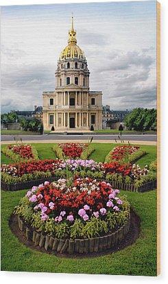 Invalides Paris France Wood Print by Dave Mills