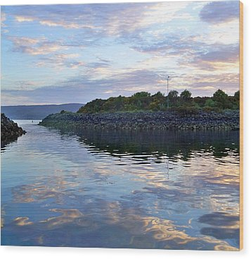 Wood Print featuring the photograph Inverkip Marina by Lynn Bolt